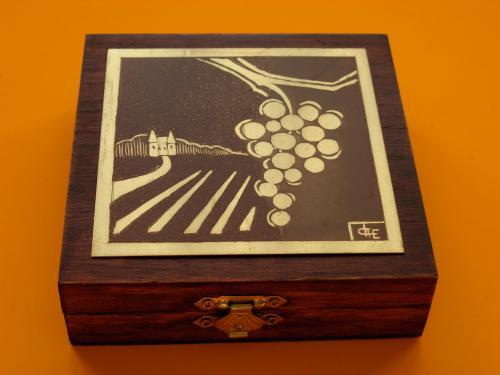 Bo�te � bijoux Vignes  12x12x4h