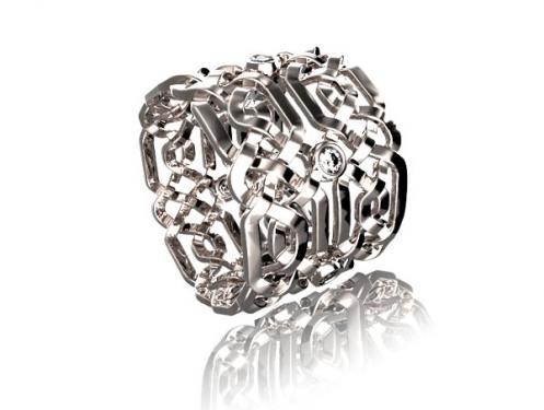 Magnifique Alliance CELTE or blanc et diamants, mod�le fabriqu� � la main dans nos atelier Pyr�n�en? chaque pi�ce est unique. Vous pouvez choisir la largeur de la bague et la grosseur des pierres ainsi que la couleur d? or? Nous pouvons vous r�aliser un devis gratuit sur notre site de cr�ation www.creer-mon-bijou.fr
