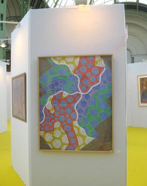 description  Alkd sur toile Exposée ART EN CAPITOL ici in situ