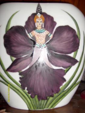 description l'orchidée noire peinture traditionnelle