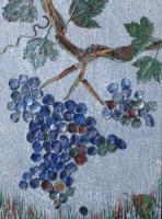 38 - RAISINS GIVRES- Ecorce de bouleau - C�nes de C�dre du Liban -        (20 cm/30 cm) , NICOLE BOURGAIT THIERRY LE SET DES FLEURS