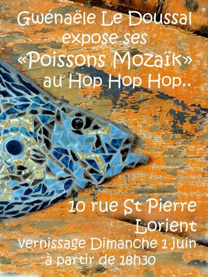 Actualité de gwenaele le doussal passionmozaik Exposition des Poissons Mosaïques