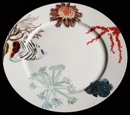 Assiette de présentation motifs de la mer. Référence: Diamètre: sur commande délais nous cosulter.