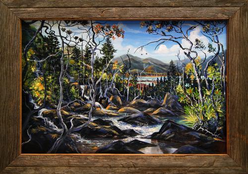 N°7 Souviens-Toi...Le Sud Acrylique sur toile 60 X 40