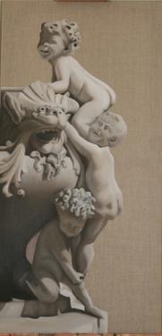 Huile sur toile 100x50 cm: Diablotins.