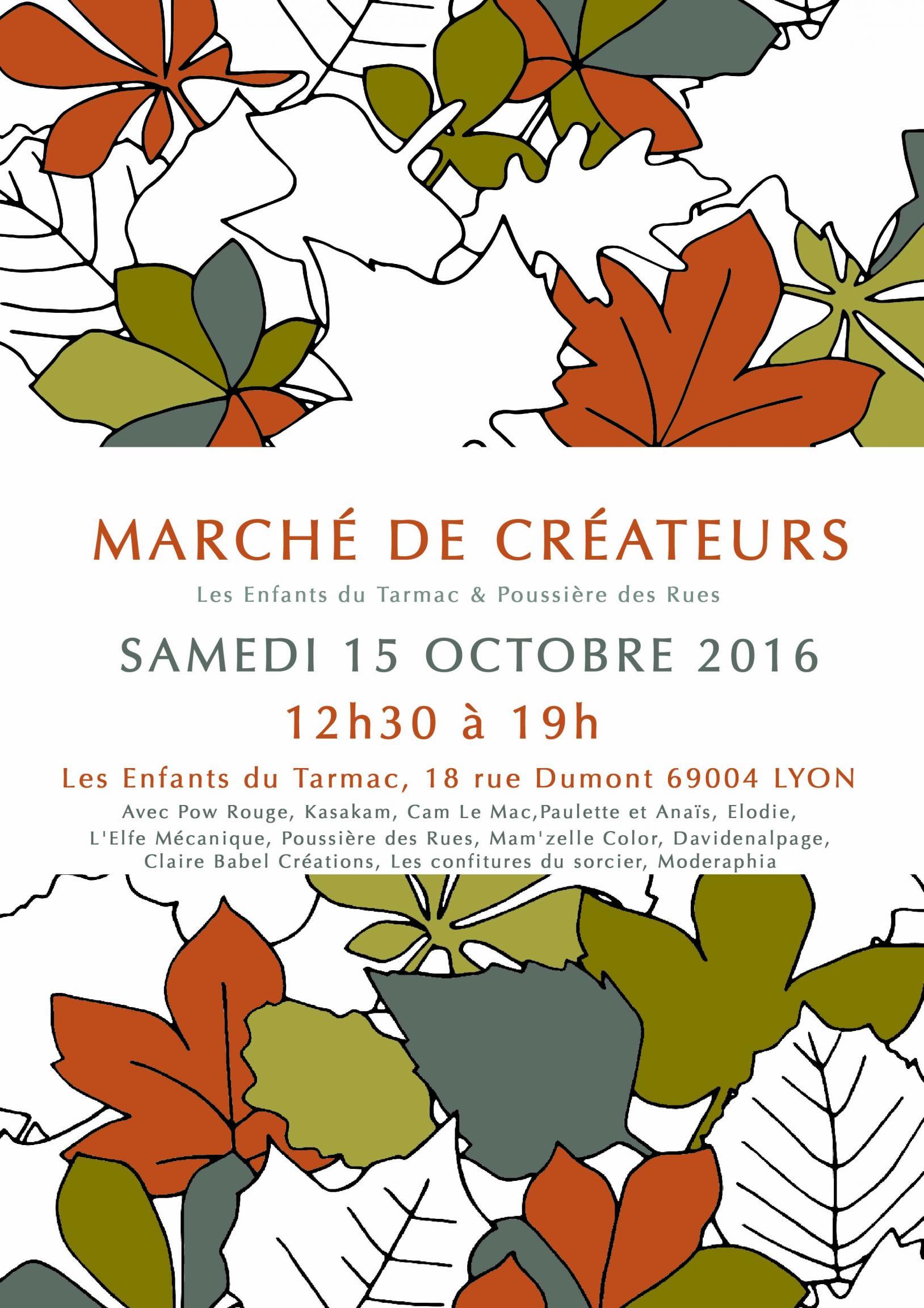 Actualité de L'Elfe  Mécanique Contrat CAPE Marché de créateurs - Lyon Croix-Rousse - Les Enfants du Tarmac