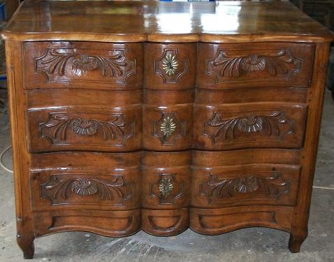 restauration commode arbal�te  en noyer