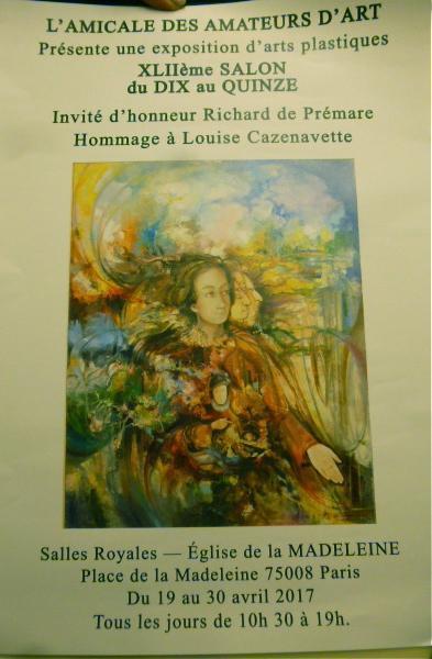 Actualité de Thibault Boorsch Fabienne 42ÈME SALON DU DIX AU QUINZE- AMICALE DES AMATEURS D'ART.