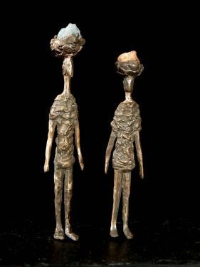 Bronze et pierre. Hauteur 24 cm