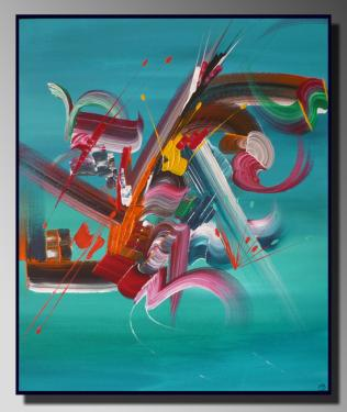 FUSION Taille : 46X55 Peinture abstraite   Acrylique au couteau/pinceau Toile sur châssis bois Cotation Drouot Site officiel : http://www.mapeinturesurtoile.com Prix : me contacter