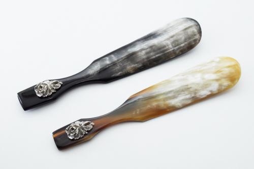 Chausse-pied, corne de buffle et argent 925