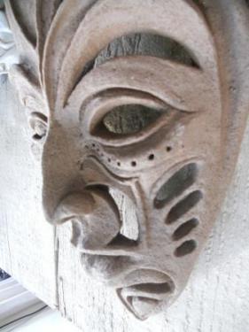 grès chamotté applique murale