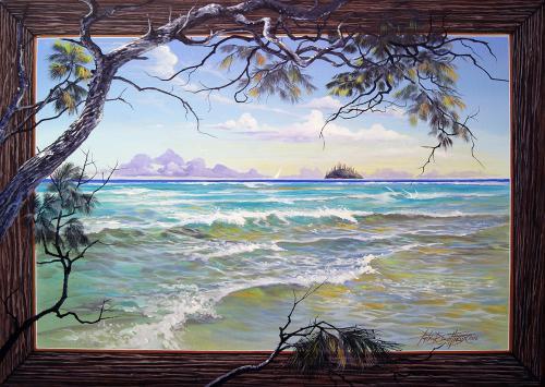 N°32 Méditation Corniche Acrylique sur toile 92X65