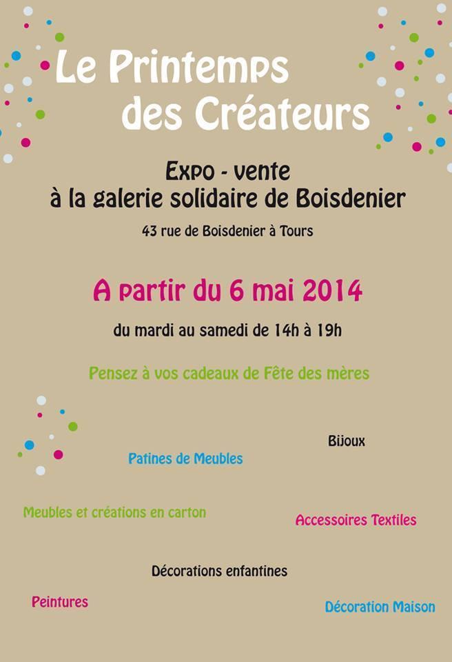 Actualité de Maryline Epyneau Maryline imagine ...Atelier bout de carton  Exposition  le printemps des créateurs à Boisdenier