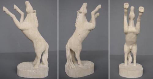 Cheval N°5 en pierre de St max