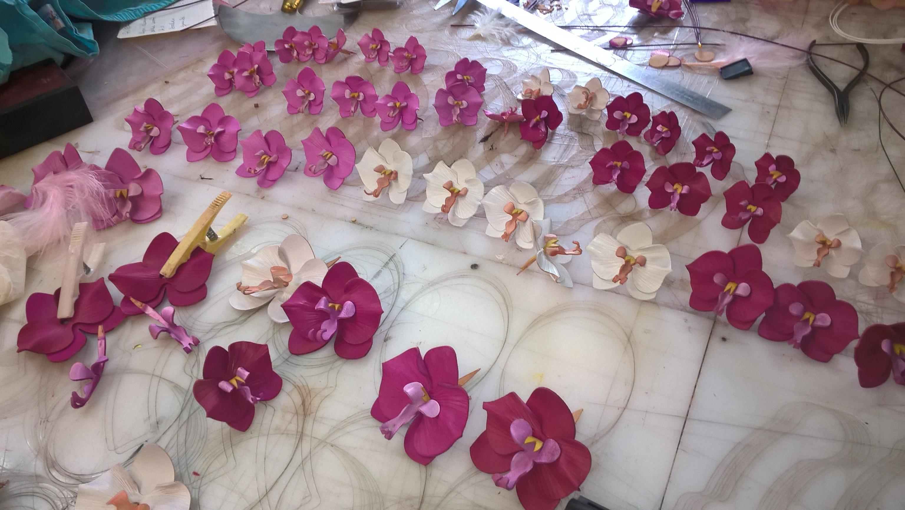 Actualité de Michel Leulier FLEURS DE PEAUX  la nouvelle collection orchidées