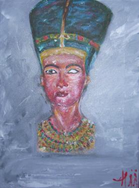 Nefertiti, acrylique sur toile