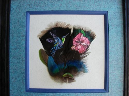 Colibri et fleur d'hibiscus