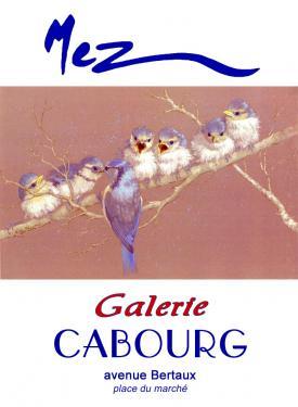 affiche - becquée bleue MEZ Cabourg