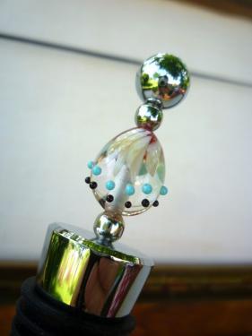 Bouchon de vin avec perles de verre filé