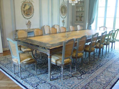 Décors sur mobilier (teintes, feuilles d'or, patines, trompe-l'oeil)