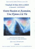 PENDANT L'OUVERTURE DE L'ATELIER VENDREDI 30 MAI A 20 H 30 , NICOLE BOURGAIT THIERRY LE SET DES FLEURS