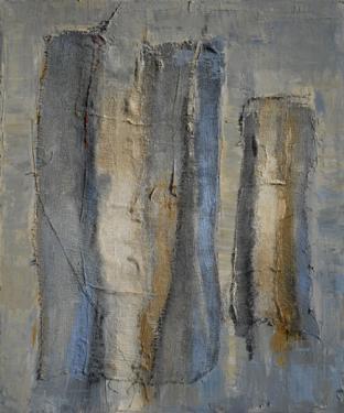 A VOUS DE JOUER huile sur toile 43 x 38 cm