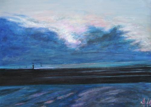 L'�claircie, Bretagne, acrylique sur toile