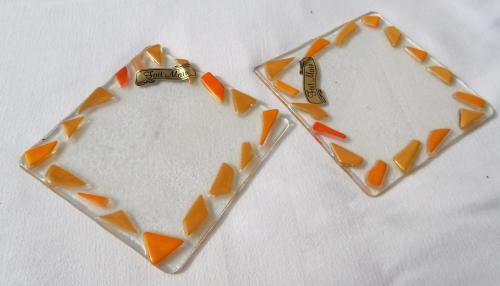 Dessous de verre ou bouteilles 10x10 cm couleur à la demande