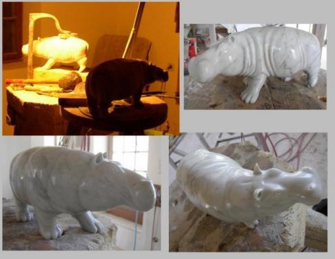Hippopotame tentative atelier