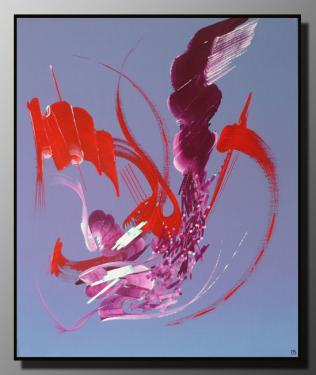 SYMPHONIE Taille : 46X55 Peinture abstraite   Acrylique au couteau/pinceau Toile sur ch�ssis bois Cotation Drouot Site officiel : http://www.mapeinturesurtoile.com Prix : me contacter