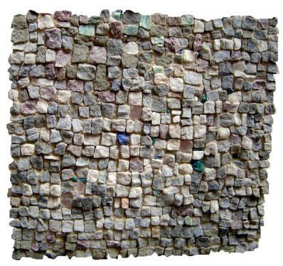 Opus tesselatum 40x40  lazulite de Madagascar