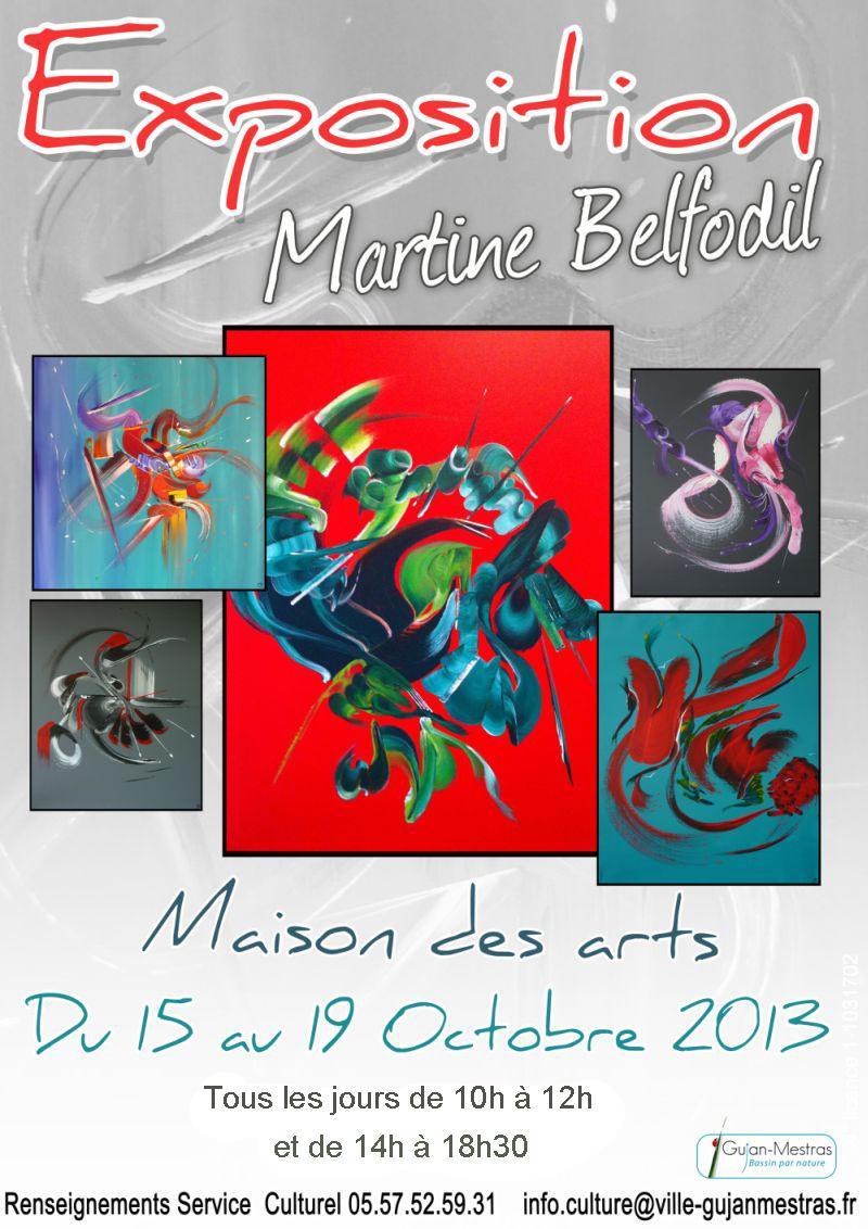 Actualité de BELFODIL Martine Exposition à la MAISON DES ARTS - Martine BELFODIL