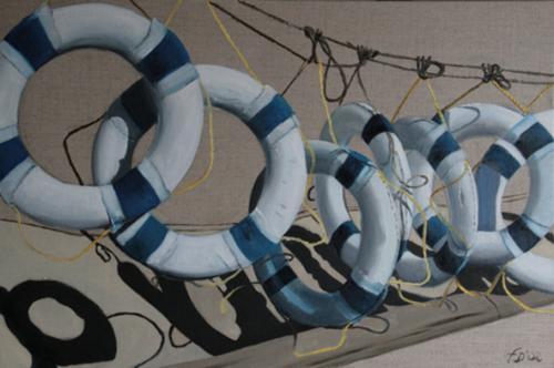 Huile sur toile 40x60 cm: Bouées