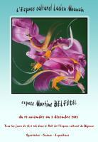 Actualité de BELFODIL Martine Exposition Martine BELFODIL de tableaux contemporains