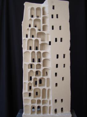 Porcelaine chamottée H 60cm
