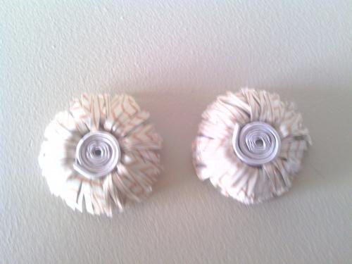 Boucles d'oreilles clip crème