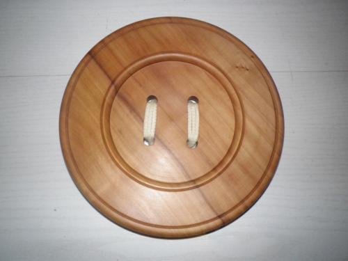 Dessous de plat original en forme de bouton