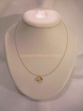 Collier fil cablé + fermoir + anneaux en