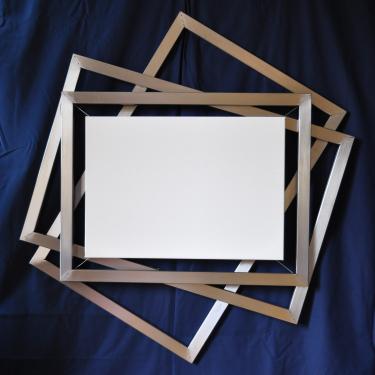 Cadre triple Réf.105 pour toile M15 ( 65 x 46 ) Sur mesure, toutes dimensions pour photo ou toile.