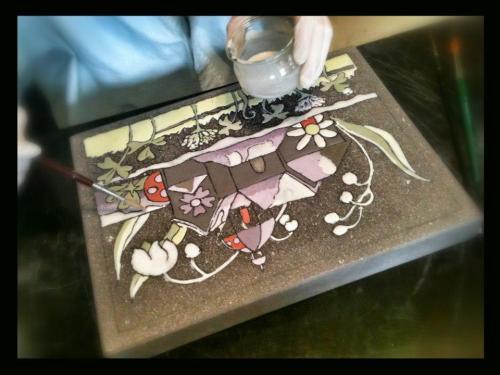 cr ation de rose desmaisons p pite de lave 18771. Black Bedroom Furniture Sets. Home Design Ideas