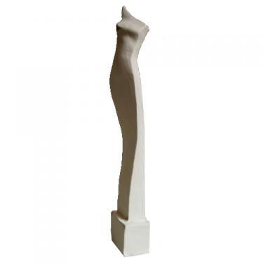 Sculpture en fa�ence. Hauteur 30 cm