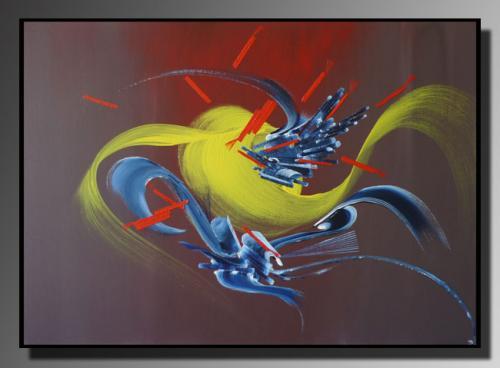 ABONDANCE Taille : 50X70 Peinture abstraite   Acrylique au couteau/pinceau Toile sur ch�ssis bois Cotation Drouot Site officiel : http://www.mapeinturesurtoile.com Prix : me contacter