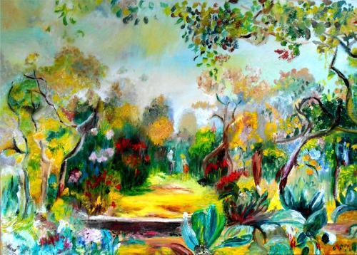 Huile sur toile  46*33  Un tableau inspiré de Renoir