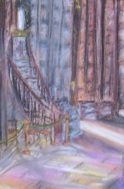 Ici-bas, l'�glise St.Jean/St.Georges, Lyon, pastels