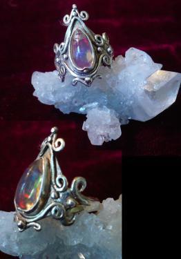 Opale de feu blanche du Mexique 2013