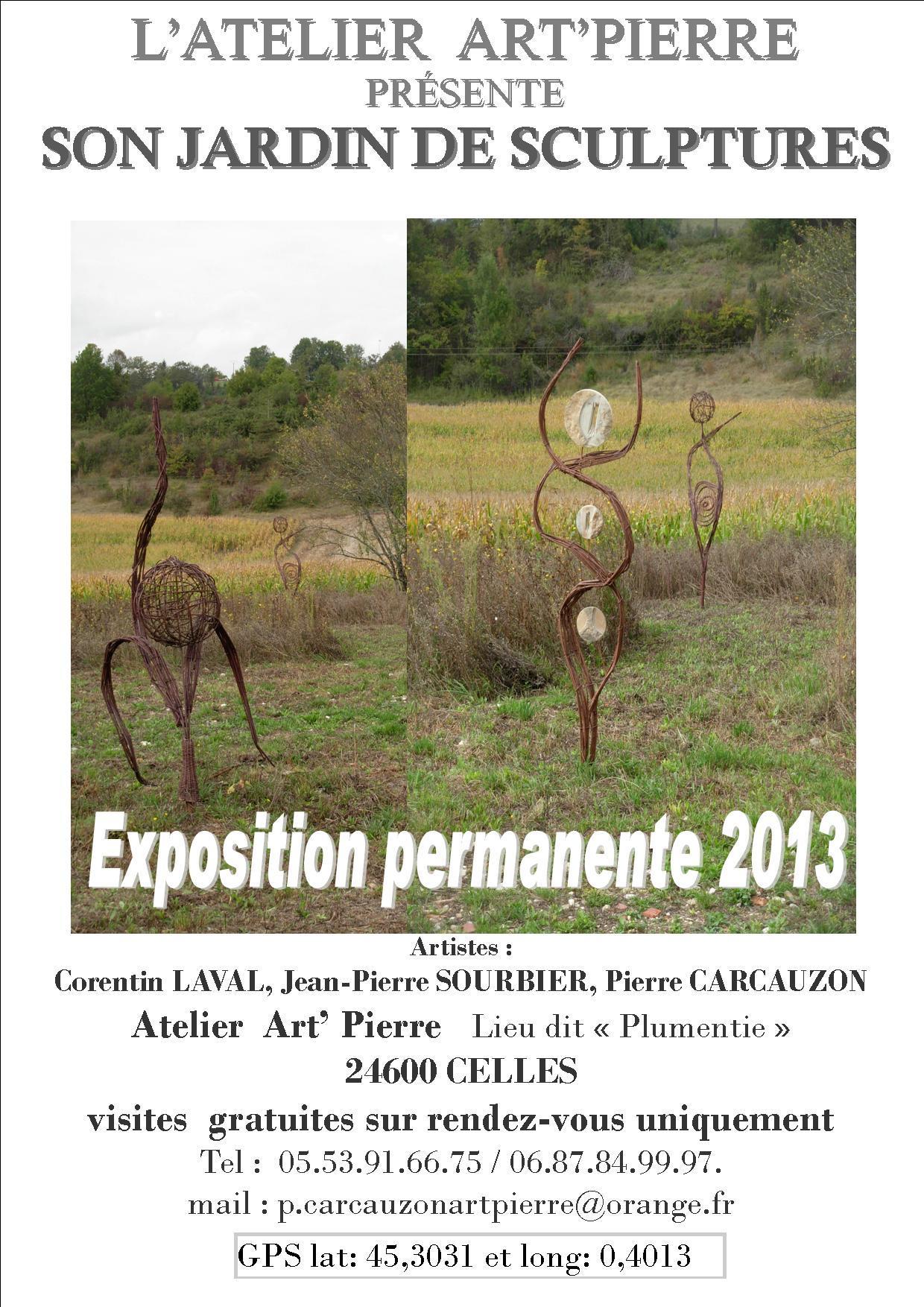 Actualité de Atelier Art' Pierre jardin de sculptures