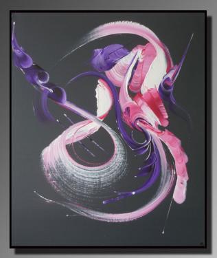 ETREINTE MUSICALE  Taille : 46X55 Peinture abstraite   Acrylique au couteau/pinceau Toile sur ch�ssis bois Cotation Drouot Site officiel : http://www.mapeinturesurtoile.com Prix : me contacter