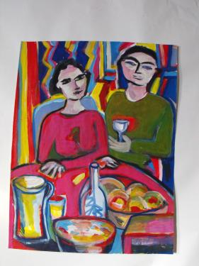 le couple au verre