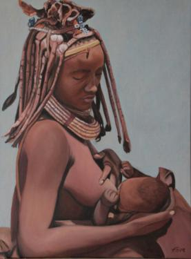 Huile sur toile 70x50 cm: Maternelle